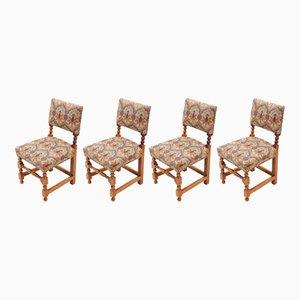 Esszimmerstühle aus Mahagoni im cromwellschen Stil, 1980er, 4er Set