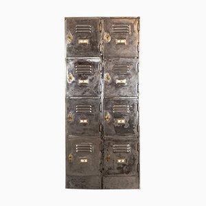 Englische George V Schulspinde aus Stahl von Roneo, 1932