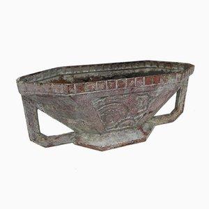 Macetero Art Déco de hierro fundido esmaltado, años 30