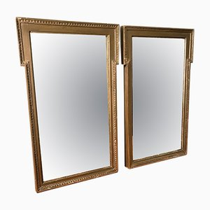 Vergoldeter Vintage Spiegel, 1940er, 2er Set