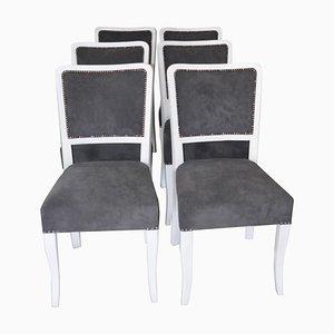 Art Deco Esszimmerstühle, 6er Set