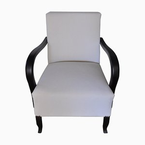 Art Deco White Armchair, 1920s