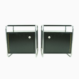 Bauhaus Nightstands by Rudolf Vichr, 1930s, Set of 2