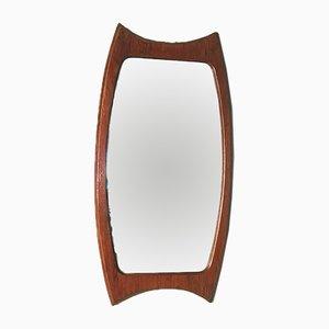 Specchio a muro in teak, anni '50