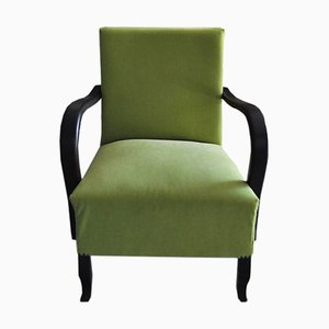 Art Deco Green Armchair, 1920s