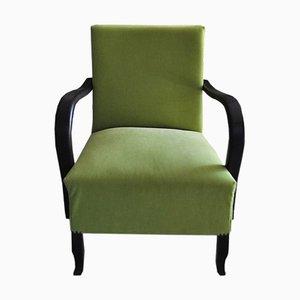 Grüner Art Deco Sessel, 1920er