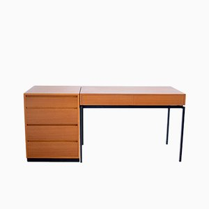 Teak Writing Desk & Corpus by Dieter Wäckerlin for Zingg-Lamprecht, 1963