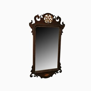 Antique Georgian Mahogany Fret Mirror