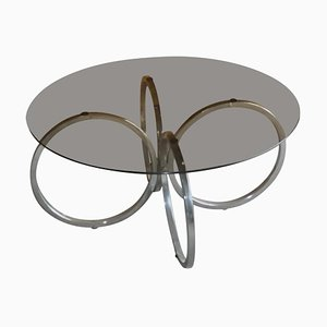 Mid-Century Tubular Chrome Coffee Table, 1960s