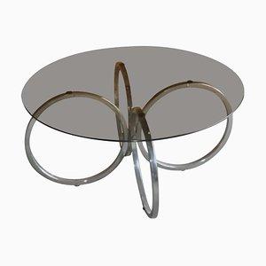 Tavolino da caffè Mid-Century in metallo tubolare cromato, anni '60