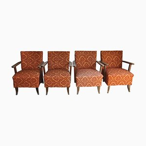 Mid-Century Armchairs, 1950s, Set of 4