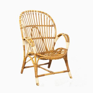 Rattan Armchair from Rohé Noordwolde, 1950s