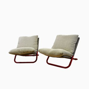 Low Cross Armchairs by Marcello Cuneo for Arflex, 1970s, Set of 2