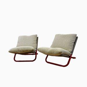 Niedrige Sessel mit Kreuzgestell von Marcello Cuneo für Arflex, 1970er, 2er Set