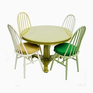 Tavolo vintage con quattro sedie di Ercol, anni '60
