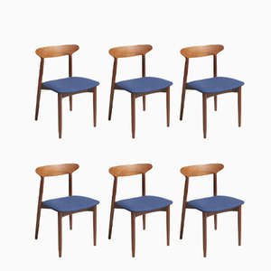 Model 59 Dining Chairs by Harry Østergaard for Randers Møbelfabrik, 1950s, Set of 6