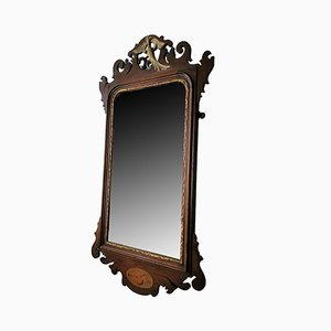 Antique Regency Mahogany & Gilt Fret Mirror