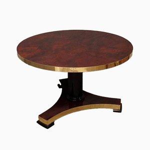 Mid-Century Tisch aus Ziegenleder & Messing von Aldo Tura, 1950er