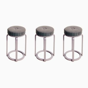 Gloss Lacquered Bentwood Stools from Ercol, 1960s, Set of 3