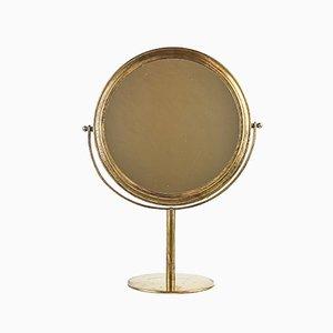 Specchio da tavolo Mid-Century in ottone, Svezia
