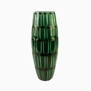 Vaso Adria Mid-Century in ceramica verde di Anna-Lisa Thomson per Upsala Ekeby, 1951