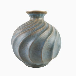 Large Swedish Ceramic Vase by Ewald Dahlskog for Bo Fajans, 1930s