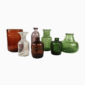 Vintage Vases by Erik Hoglund for Boda, 1960s, Set of 7