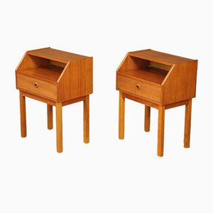 Tables de Chevet Mid-Century en Teck, Danemark, Set de 2