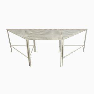 Tavolini di Mathieu Matégot, anni '50, set di 3