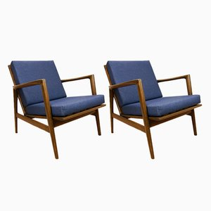 Model 300-139 Armchairs by Swarzędzka, 1960s, Set of 2