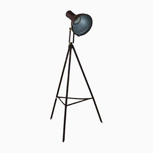 Industrial Tripod Floor Lamp, 1920s