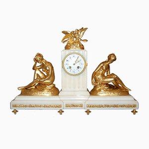 Reloj Vénus à la Colombe de bronce y mármol de Falconet para Susse Frères, década del 1900
