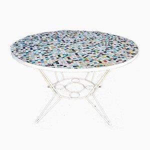 Mesa con mosaico de azulejos