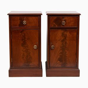 Victorian Mahogany Bedside Cabinets, Set of 2