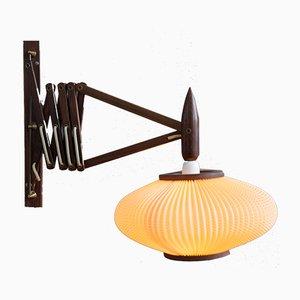 Moderne skandinavische Mid-Century Wandlampe aus lackiertem Palisander, 1950er