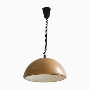 Lámpara colgante vintage marrón de Meblo, años 60