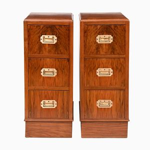 Art Deco Bedside Cabinets, 1930s, Set of 2