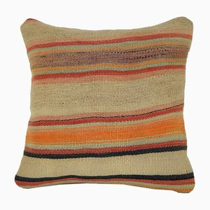 Handwoven Geometric Kilim Pillow Cover from Vintage Pillow Store Contemporary