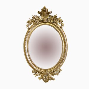 Antique French Oval Gilt Mirror