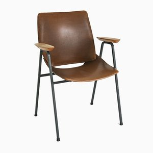 Brown Shell Lupina Armchair by Niko Kralj for Stol Kamnik, 1970s