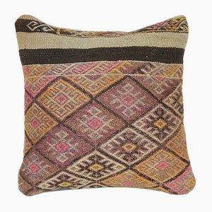 Handgewebter türkischer Kelim Bohemien Kissenbezug aus Wolle von Vintage Pillow Store Contemporary