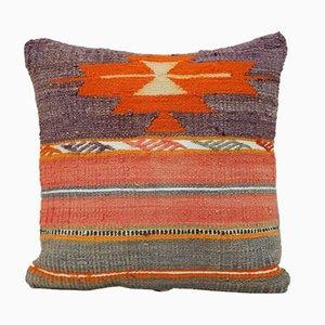 Türkischer Kelim Kissenbezug in Orange & Pink von Vintage Pillow Store Contemporary