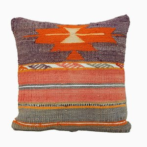 Turkish Orange & Pink Kilim Pillow Cover from Vintage Pillow Store Contemporary