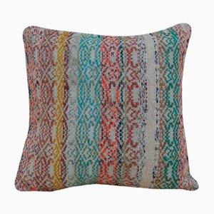 Mehrfarbiger türkischer Kelim Kissenbezug von Vintage Pillow Store Contemporary