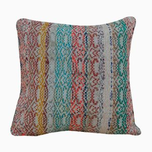 Turkish Multicolored Kilim Pillow Cover from Vintage Pillow Store Contemporary