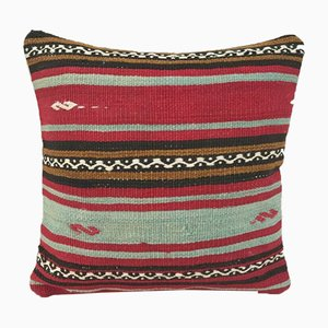 Turkish Square Kilim Pillow Cover from Vintage Pillow Store Contemporary