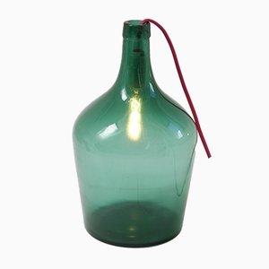 Lámpara vintage en forma de damajuana, años 50