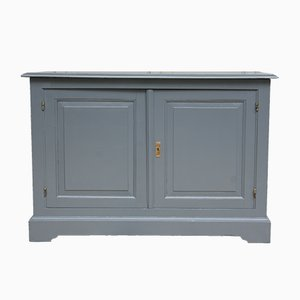 Antique French Anthracite Gray Credenza