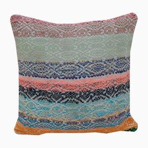 Housse de Coussin Kilim Tissée Multicolore de Vintage Pillow Store Contemporary