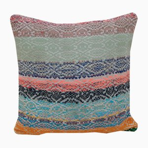 Woven Multicolored Kilim Pillow Cover from Vintage Pillow Store Contemporary
